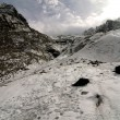 Mountaineers trail on the glacier. — Stock Photo #58342179