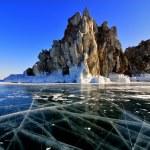 Lake Baikal winter view — Stock Photo #64907585