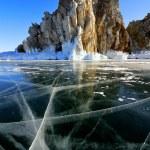 Lake Baikal winter view — Stock Photo #64907601