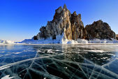 Lake Baikal winter view — Stock Photo