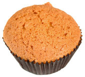 Light sweet cake muffin — Stock Photo