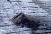 Arctic glacier. Ice and cold. area Novaya Zemlya — Stock Photo