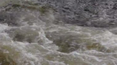 The rapid flow of the rive 6 — Stock Video