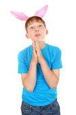 Kid with Bunny Ears — Stock Photo