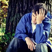 Sorrowful Teenager — Stock Photo