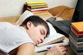 Tired Student sleeping — Stock Photo