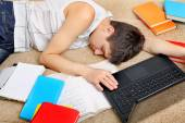 Tired Student sleeping — Stock Photo