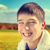Cheerful Teenager Portrait — Stock Photo