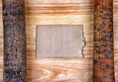 Wooden Notice Board — Stock Photo