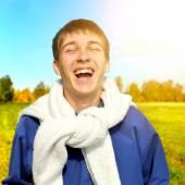 Cheerful Teenager outdoor — Stock Photo