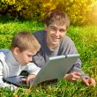 Brothers with Laptop — Stock Photo #53911779