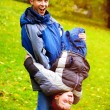 Brothers in the Autumn Park — Stock Photo #53911923
