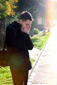 Sorrowful Man outdoor — Stock Photo