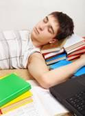 Müde schüler schlafen — Stockfoto