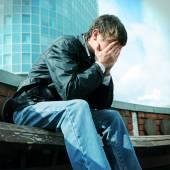 Sad Young Man — Stock Photo