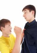 Kid threaten Teenager — Stock Photo