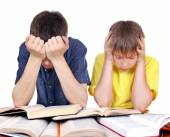 Tired Students — Stock Photo