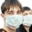 Teenager in Flu Mask — Stock Photo #56042629