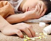 Teenager near the Pills — Stock Photo