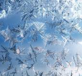Ice on the Window — Stock Photo