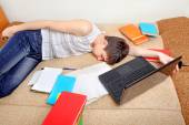 Tired Student — Stock Photo