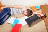 累了的学生 — 图库照片