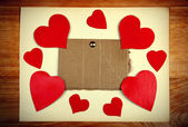 Notice Board with Heart Shape — Stock Photo