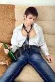 Drunken Teenager — Stock Photo
