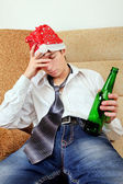 Teenager in Alcohol addiction — Stock Photo