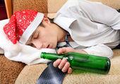Drunken Teenager sleeping — Stock Photo