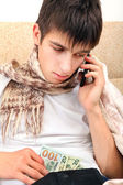 Sick Teenager with the Money — Stock Photo