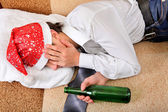 Drunken Teenager sleeping — Stock Photo