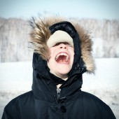 Happy Kid in the Winter — Stock Photo