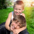Happy Brothers outdoor — Stock Photo #62042541