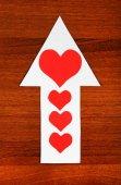 Heart Shape on the Arrow — Стоковое фото
