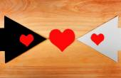 Heart Shapes and the Arrows — Stock Photo