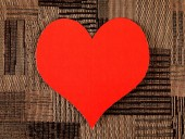 Heart Shape on the Fabric Background — Stock Photo