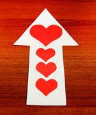 Heart Shape on the Arrow — Stock Photo
