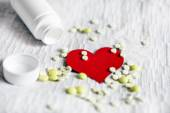 Heart Shape with the Pills — Стоковое фото