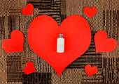 USB Flash Drives with Heart Shapes — Стоковое фото