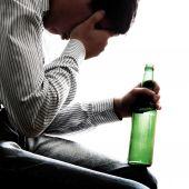 Sad Man in Alcohol Addiction — Stock Photo