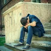 Sad Teenager outdoor — Stock Photo