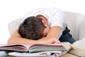 Tired Student sleep — Stock Photo