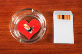 Cigarette with the Heart Shape — Stock Photo