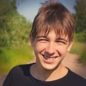 Happy Teenager outdoor — Stock Photo