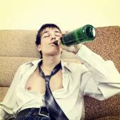 Young Man in Alcohol Addiction — Stock Photo