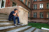 Sad Teenager outdoor — Stock Photo