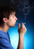 Young Man with Cigarette — Stock Photo