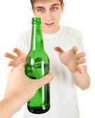 Teenager take a Beer — Stock Photo