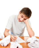Teenager compose a Letter — Stock Photo